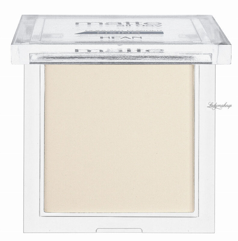 HEAN - Matte all day - COMPACT POWDER FIXING - Transparentny puder matujący - 501 TRANSLUCENT