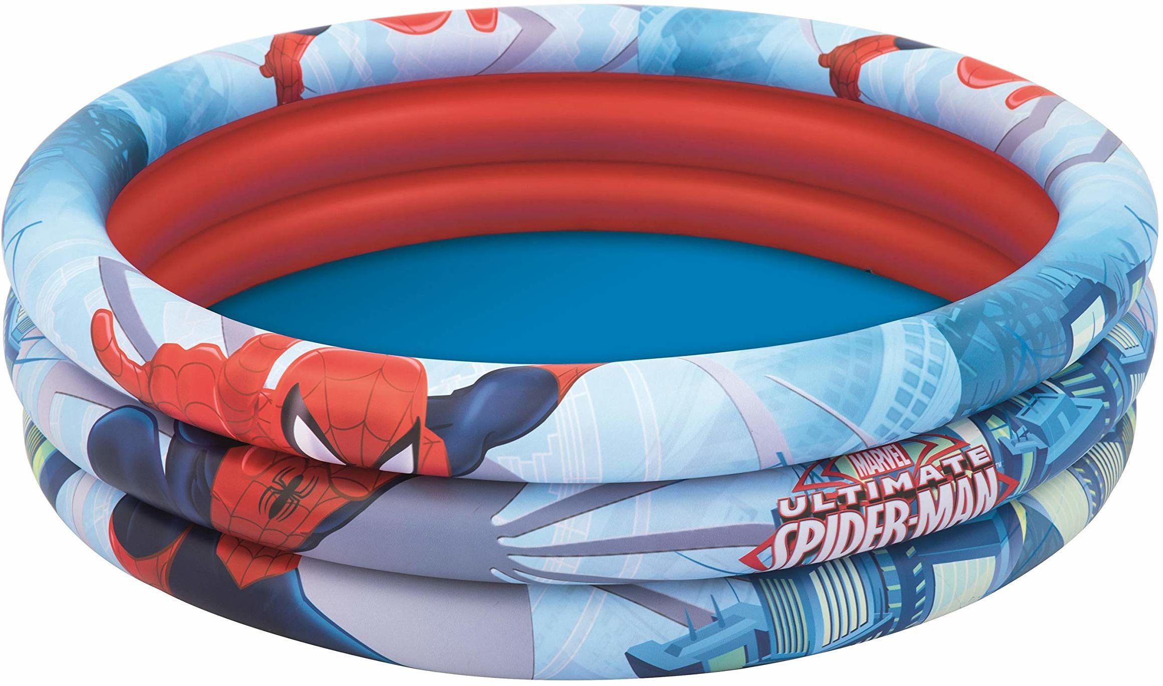 """Bestway 1098018XXX19 Spider-Man  48"""" X H12""""/ 1.22M X H30Cm 3-Ring Pool"""