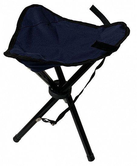 Składane krzesełko - trójnóg - niebieskie