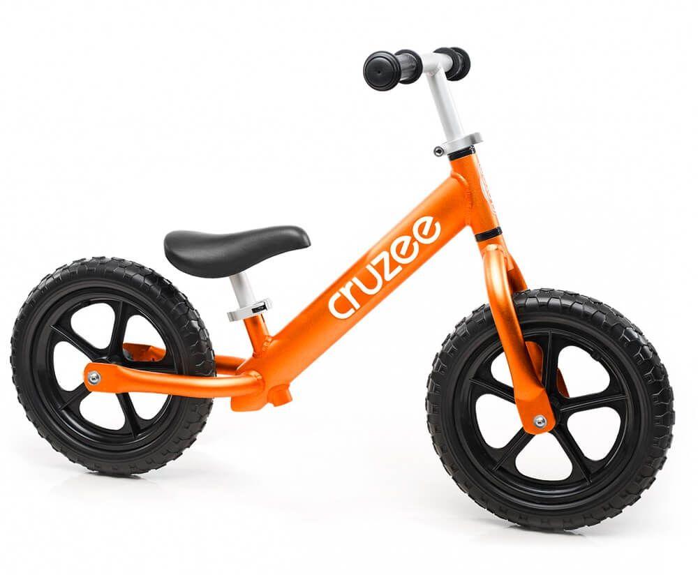 Rowerek biegowy Cruzee 12 pomarańczowy orange czarne koła
