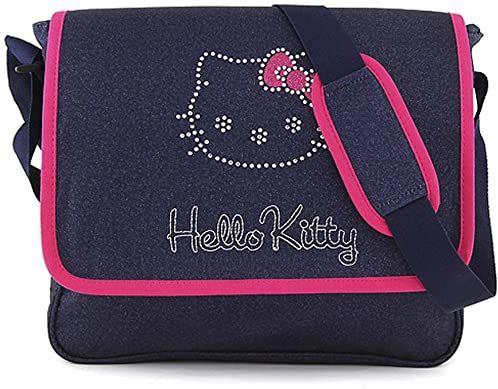 Target Target Hello Kitty jeansowe torba kurierska 42 cm, niebieska (ciemnoniebieska niebieska/róża)