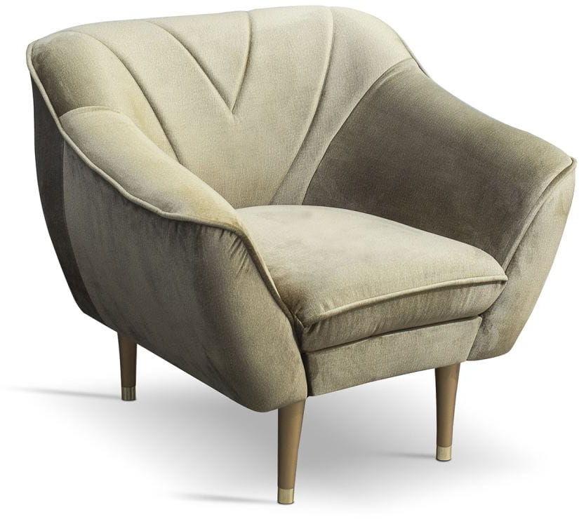 Fotel tapicerowany Mia w stylu skandynawskim