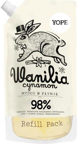 Yope naturalne mydło w płynie wanilia i cynamon zapas 500 ml
