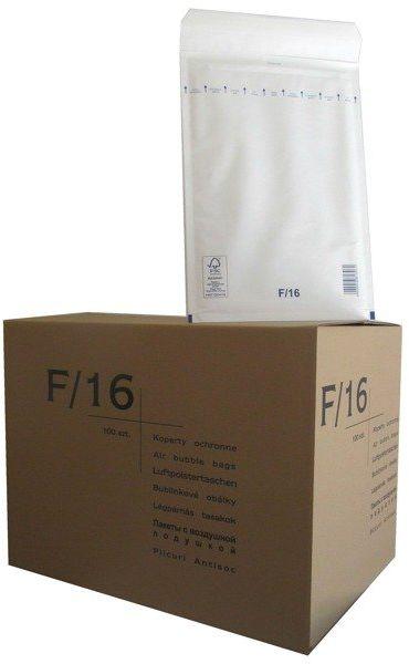 Koperty bąbelkowe F/16 220 x 340 białe 100 szt.