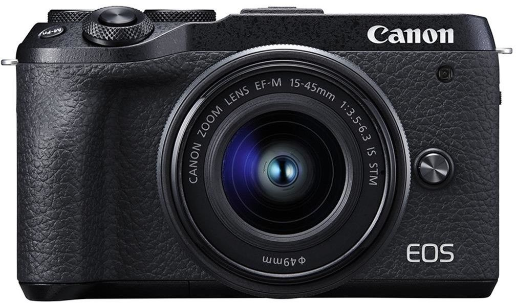 Canon EOS M6 Mark II + EF-M 15-45mm 3.5-6.3 IS STM Srebrny