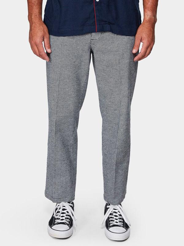 RVCA HI-GRADE black spodnie lniane mężczyzn - 32