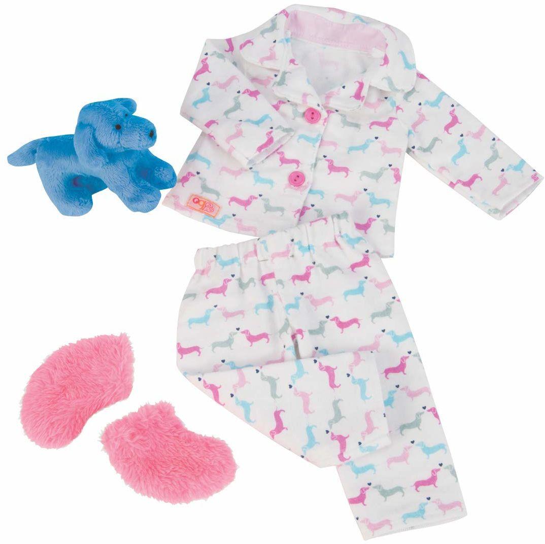 Our Generation BD30214Z Teckel pies i piżama liczące szczeniaki strój dla lalek 45 cm, cal