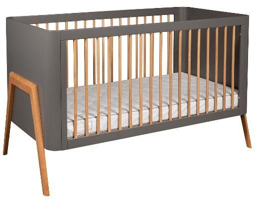 Łóżeczko dziecięce torsten 140x70 troll nursery (k. ciemny szary + teak)