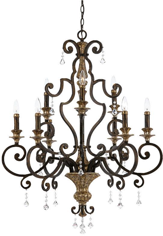 Żyrandol Marquette QZ/MARQUETTE9 Quoizel dekoracyjna oprawa w klasycznym stylu