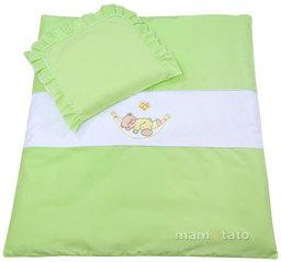 MAMO-TATO pościel 4-el Miś w hamaku w zieleni do wózka
