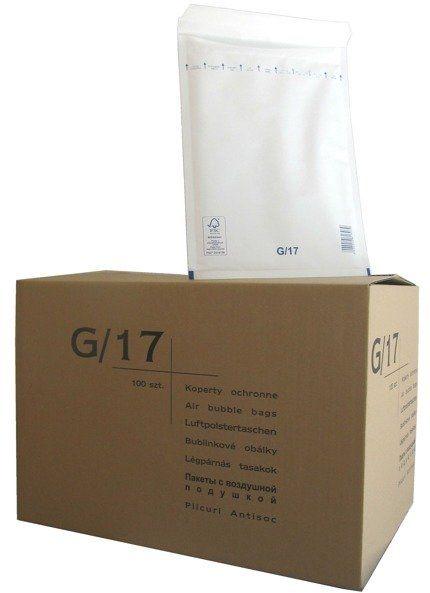 Koperty bąbelkowe G/17 230 x 340 białe 100 szt.