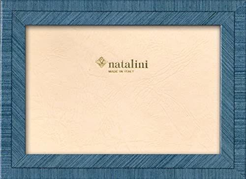 Ramka na zdjęcia Natalini MARQUETRY MADE IN ITALY, Tulipan, jasnoniebieska, 20 cm x 25 cm