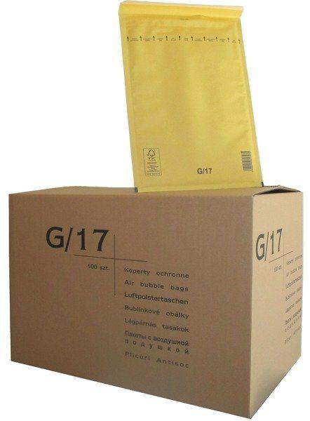Koperty bąbelkowe G/17 230 x 340 brązowe 100 szt.