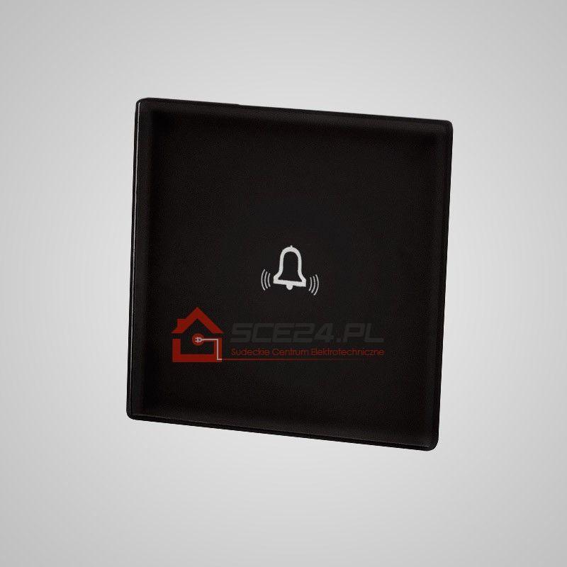 Mały panel dotykowy 47x47mm szklany, dzwonek, czarny