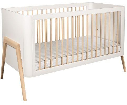 Łóżeczko dziecięce torsten 140x70 troll nursery (k. biały + nat. drewno)
