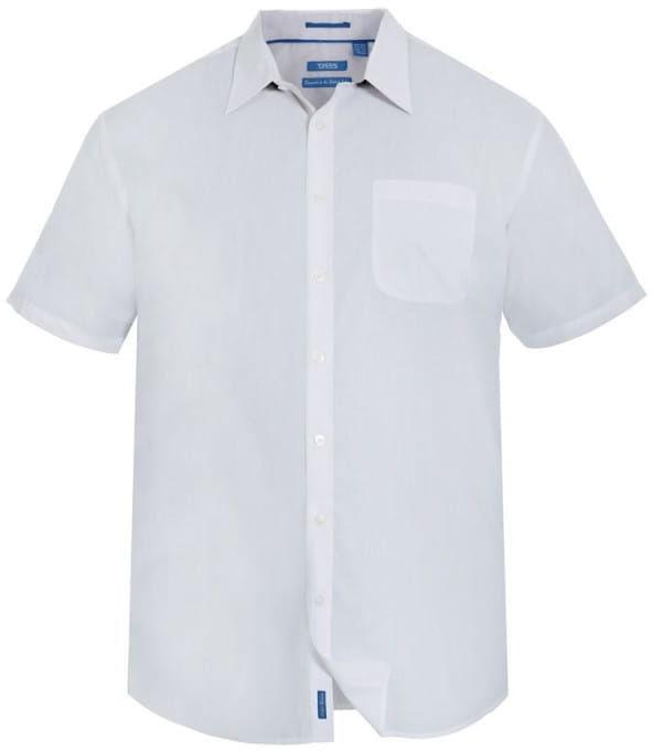 DELMAR-D555 Koszula Biała Duże Rozmiary
