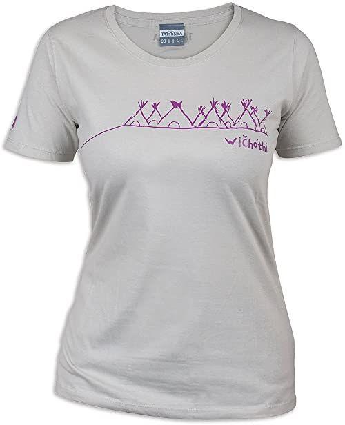 Tatonka Damski T-shirt Wichothi, silver grey, 44, C179_734