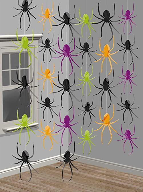 amscan 678124 pająk sznur dekoracja - 6 szt.