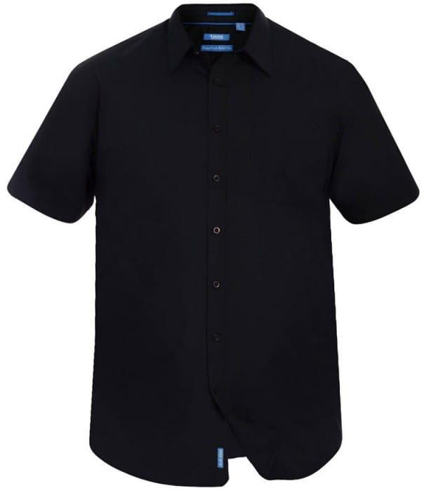 AERON-D555 Koszula Czarna Duże Rozmiary