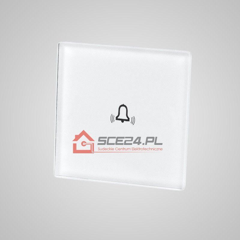 Mały panel dotykowy 47x47mm szklany, dzwonek, biały