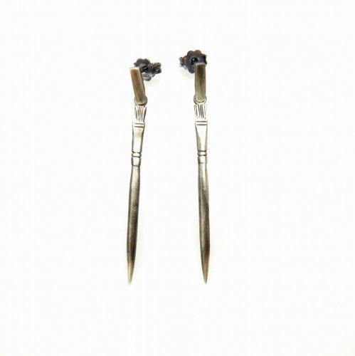 Pędzle - kolczyki srebrne