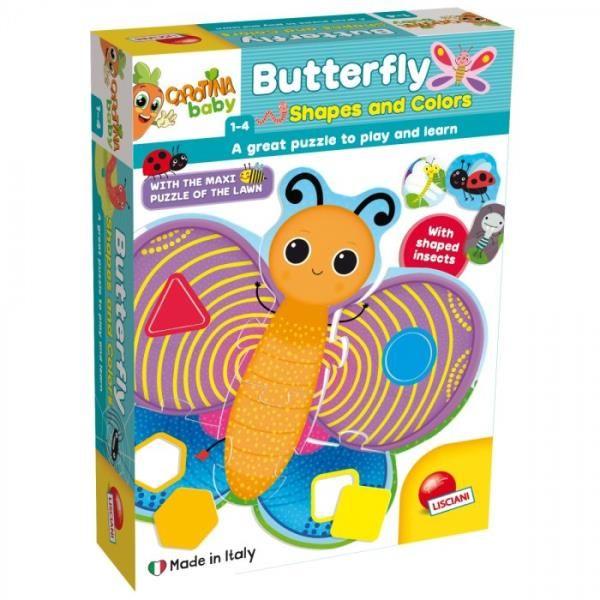 Carotina Baby Układanka Motyl kształty i kolory 72156 LISCIANI (304-72156)