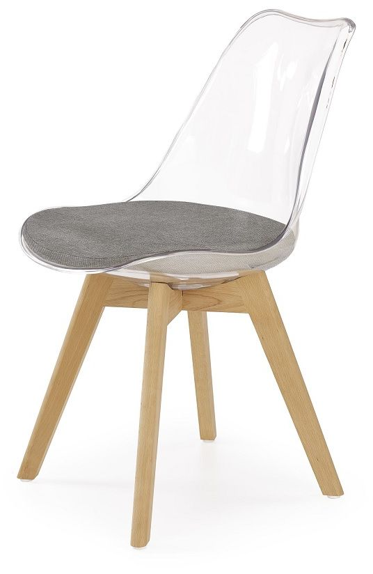 Krzesło WINDOW BIS II przezroczysty-szary-naturalny