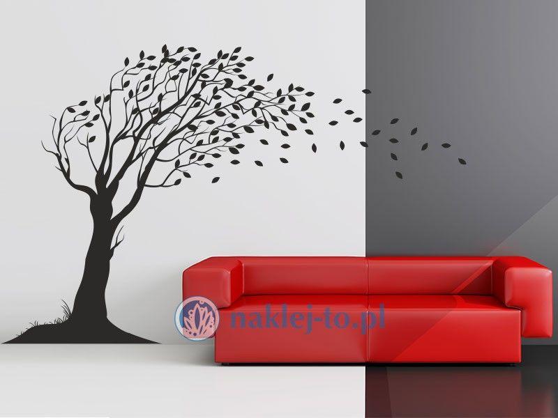 Drzewo na wietrze naklejka dekoracyjna naklejka