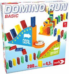 Noris 606065646  Domino Run Basic  zestaw z 200 kamieniami i rampą do parkingu, od 3 lat