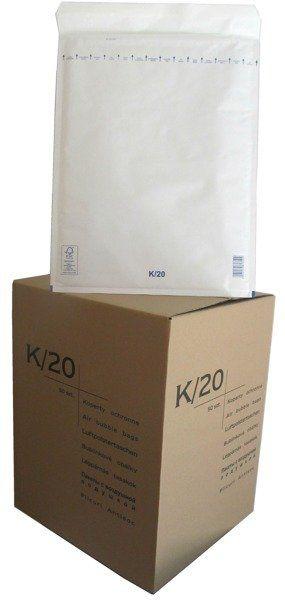 Koperty bąbelkowe K/20 350 x 470 białe 50 szt.