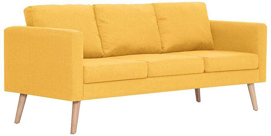 Trzyosobowa żółta kanapa - Lavinia 3X