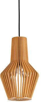 Lampa wisząca Citrus-1 SP1 159843 Ideal Lux drewniana oprawa w klasycznym stylu