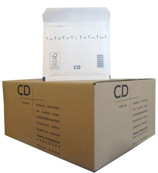 Koperty bąbelkowe CD 180 x 165 białe 100 szt.