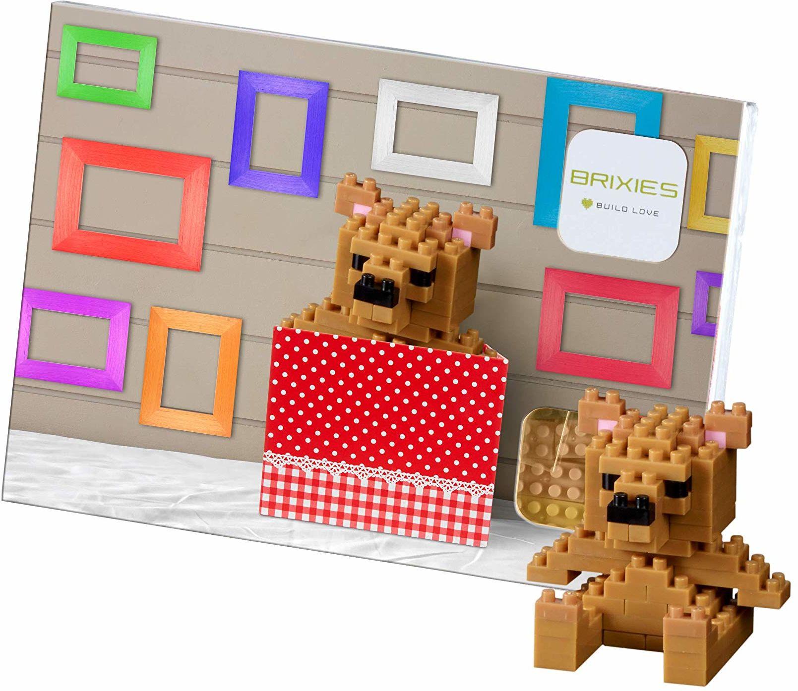 Brixies 220.024 kartka pocztowa miś 3-D puzzle, wielokolorowa