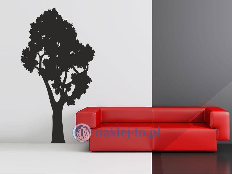 Drzewo gęsta korona Naklejka na ścianę