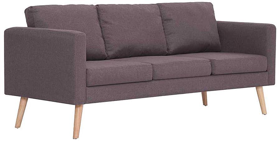 Trzyosobowa kanapa w kolorze taupe - Lavinia 3X