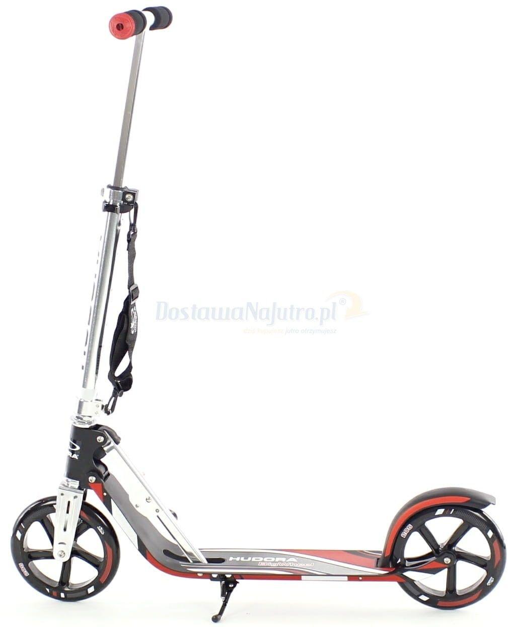 Hulajnoga HUDORA Big Wheel RX 205 czerwono-czarna 100kg XXL SKŁADANA