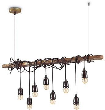 Lampa wisząca Electric SP8 176369 Ideal Lux czarna oprawa w klasycznym stylu