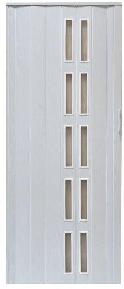 Drzwi harmonijkowe Natura 005S 80 cm dąb biały