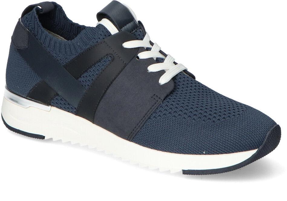 Piękne Granatowe Sneakersy Damskie Caprice Caprice 9-23711-26/827 Ocean Knit Com