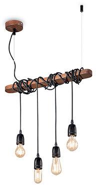 Lampa wisząca Electric SP4 176352 Ideal Lux czarna oprawa w klasycznym stylu