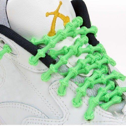 XTENEX Elastyczne Sznurówki Sportowe Zielone