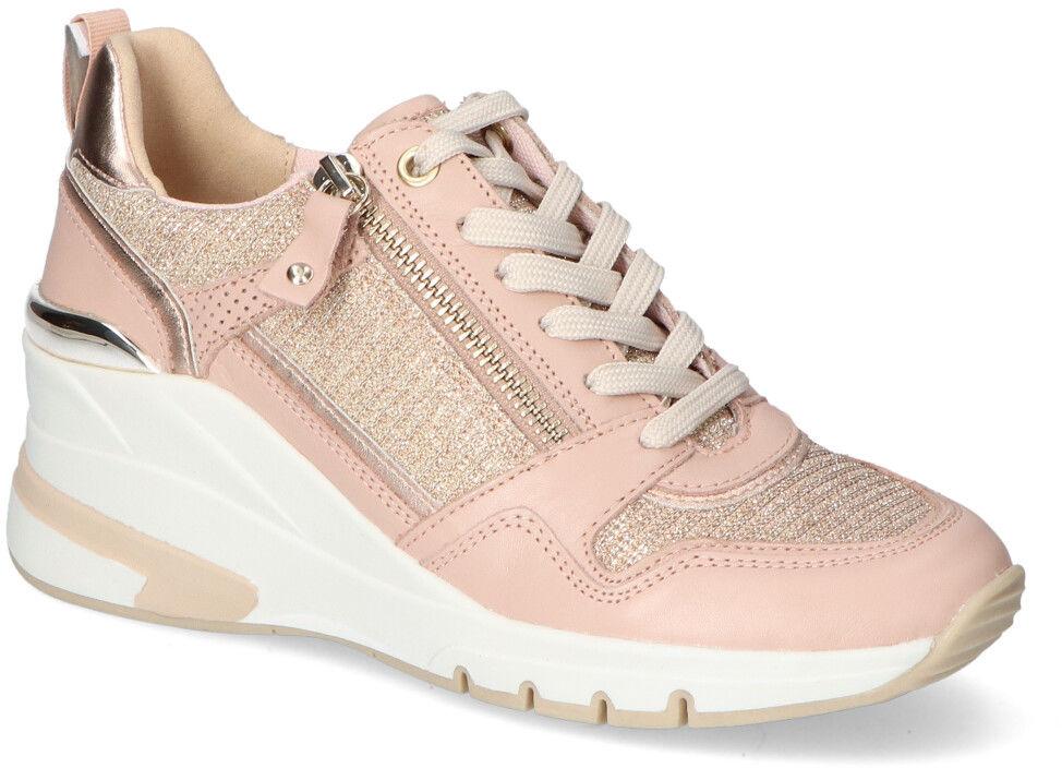 Piękne Różowe Sneakersy Caprice Na Koturnie Caprice 9-23710-26/504 Rose Comb