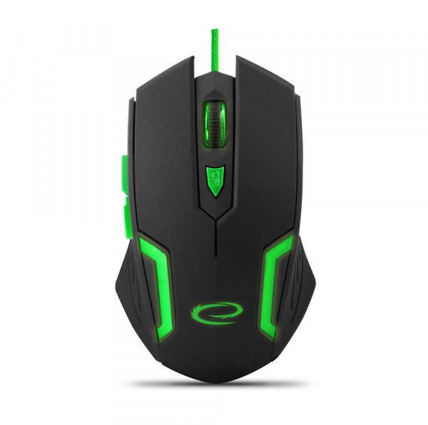 EGM205G Mysz przewodowa dla graczy 6D optyczna USB MX205 Fighter zielona