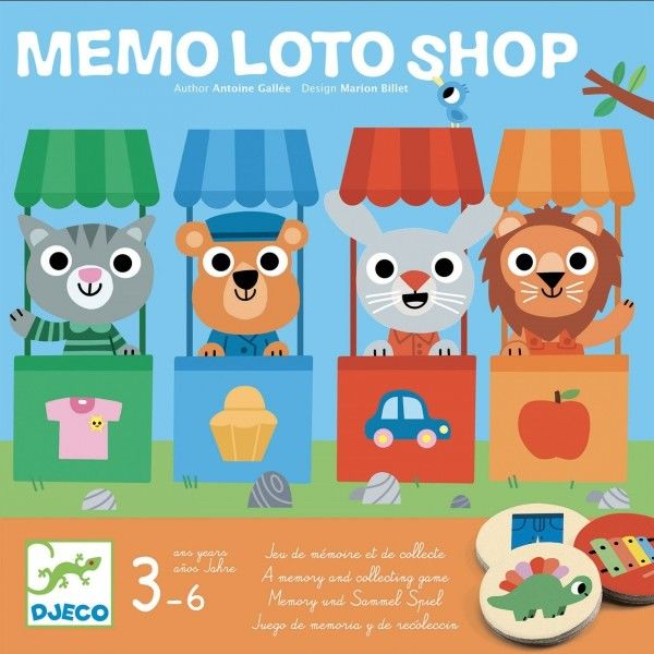 Djeco - Gra edukacyjna MEMO LOTTO SKLEP DJ08537