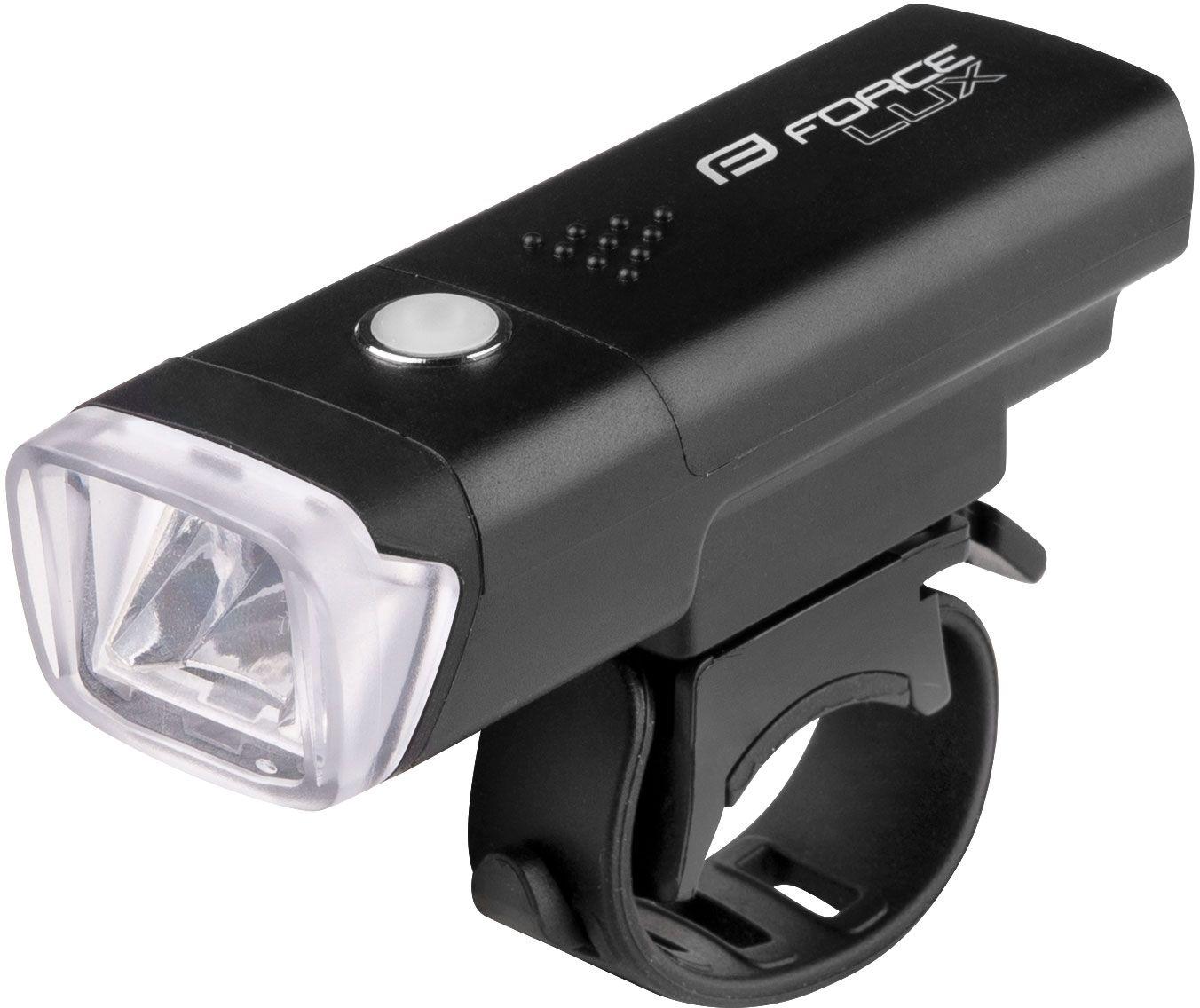 FORCE RAY Lampka rowerowa przednia USB biała 45165,8592627136948