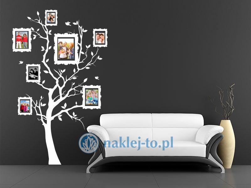naklejka na ścianę drzewo z ramkami 1 naklejka na ścianę