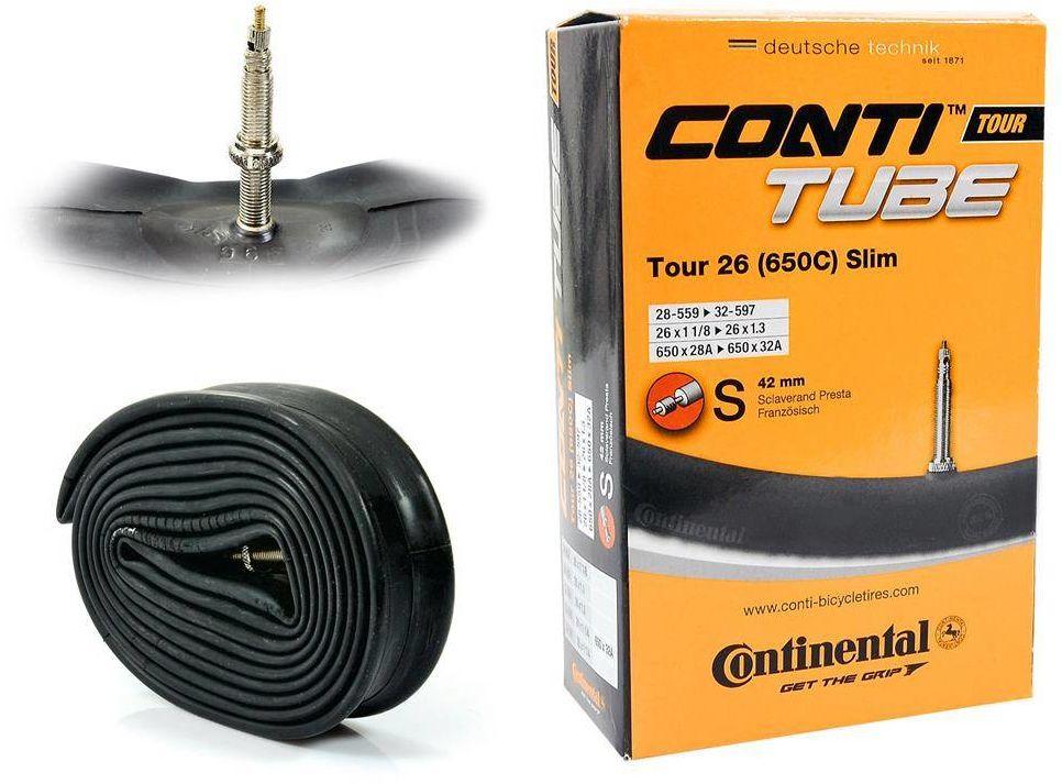 """Dętka Continental Tour Slim 26'' oraz 27,5"""" x 1,1'' - 1,3'' wentyl presta 42 mm"""