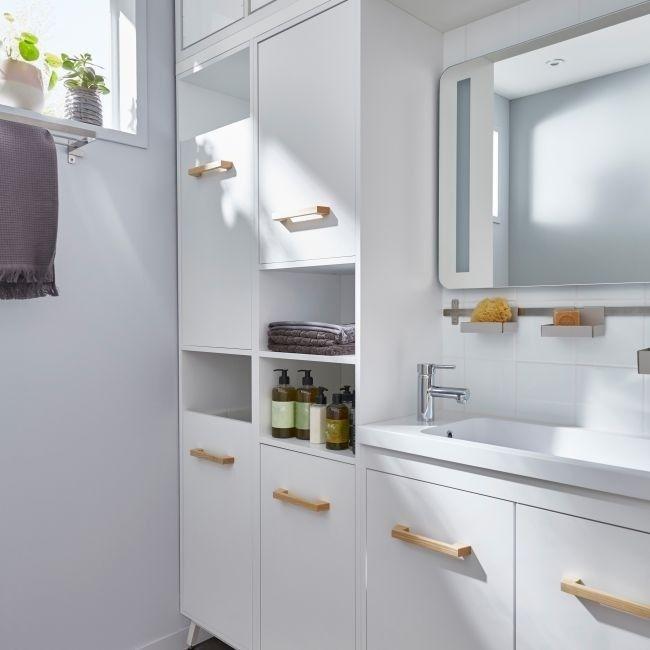 Słupek łazienkowy na pranie GoodHome Ladoga 190 x 36 x 40 cm biały