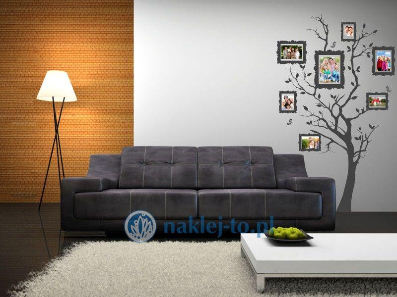 naklejka dekoracyjna drzewo z ramkami 2 naklejka na ścianę